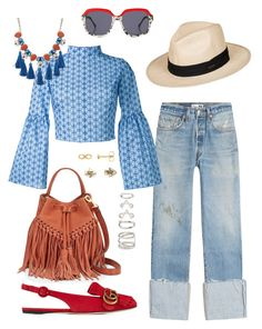 """vacation Ferien Urlaub Mode"" by jieunaaeon on Polyvore featuring RE/DONE, Gucci, Preen, Rebecca Minkoff, Daizy Shely, Forever 21, Roxy, Red Herring and Aéropostale"