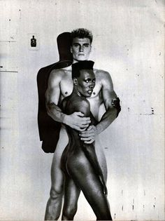 Grace Jones and Dolph Lundgren Both Magnificent, Beautiful and Exotic. Photo the mid-1980's I attended Grace's private Birthday Party at The Night Club Area. It was an Amazing Night!