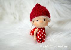 Lucky charm ornament tiny doll by mARTicreates on Etsy