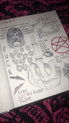 Dark Art Drawings, Cool Drawings, Arte Grunge, Doddle Art, Psychedelic Drawings, Trash Art, Arte Sketchbook, Art Diary, Funky Art