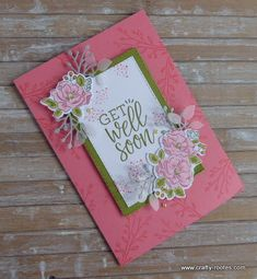 Today I am sharing a sweet Happy Hugs get well soon card made using the Healing Hugs and Happy Birthday to you stamp sets. Healing Hugs, Wink Of Stella, Happy Birthday Cakes, Stamping Up Cards, Get Well Cards, My Stamp, Flower Cards, Wedding Cards, Stampin Up