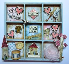 Polka Doodles Studio 12 stamps - Shabby Owl, House and The purpose of Art.  Senior DT: Dee Paramour