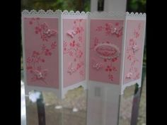Screen Divider Card Tutorial - Linda Parker - the lovely lady I first saw making these!