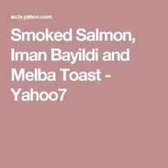 Smoked Salmon, Iman Bayildi and Melba Toast - Hells Kitchen, Smoked Salmon, Toast, Toasting Flutes
