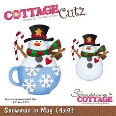 Cottage Cutz-Die-Snowman in Mug