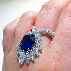 Boghossian @boghossianjewels #sapphire ring ❤ Photo by @bukvica #boghossian…