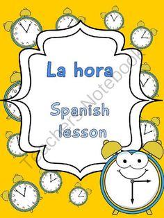 La hora- Spanish Elementary Unit 5 from Languages Corner on TeachersNotebook.com (19 pages)  - La hora- Spanish Elementary Unit 5