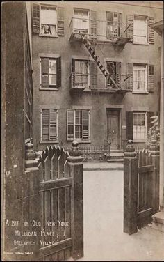 A Bit of Old New York, Milligan Place, Greenwich Village Date: 1905 - 1920. (Old Images of New York Group)