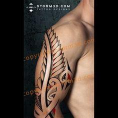 Traditonal Maori silverfern tattoo design with red elements Upper Arm Tattoos, Leg Tattoos, Arm Band Tattoo, Body Art Tattoos, Tatoos, Turtle Tattoos, Tribal Shoulder Tattoos, Mens Shoulder Tattoo, Tribal Sleeve Tattoos