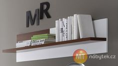 Moderní bílá závěsná police na zeď Cordelia Cordelia furniture - shelf