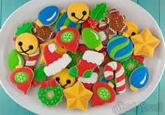 When I was a kid, one of my fondest memories of the Christmas season was pulling out the. Christmas Sugar Cookies, Holiday Cookies, Christmas Treats, Christmas Baking, Christmas Fun, Christmas Recipes, Fancy Cookies, Royal Icing Cookies, Filled Cookies