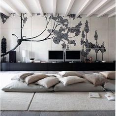 Floor Pillows - Modern Long Floor Cushions for Cool Entertainment Area