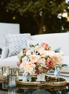 Photography: Sylvie Gil Photography - sylviegilphotography.com Floral Design: Kathleen Deery Design - kathleendeerydesign.com   Read More on SMP: http://www.stylemepretty.com/2014/05/13/outdoor-garden-affair-full-of-classic-touches/