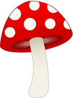 Red and White Mushroom - Free Clip Art