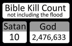 now that's interesting. http://dwindlinginunbelief.blogspot.com/2006/08/who-has-killed-more-satan-or-god.html