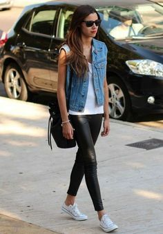 20 Looks with Leather Leggings and Pants Glamsugar.com Street style