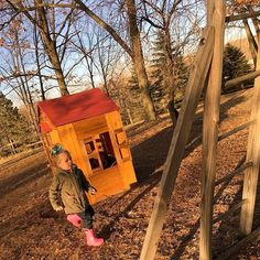 Sunny days ☀️ @kidkrafttoys via @elizjunek {Shop for this Outdoor Playhouse at KidKraft.com}