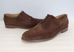 77fc1e1e9b93 Polo Ralph Lauren Mens Wingtip Shoes Size 13 Suede Brogue Leather Sole  Oxfords  PoloRalphLauren