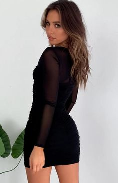 Sexy Outfits, Black Dress Outfits, Black Party Dresses, Hoco Dresses, Mode Outfits, Tight Dresses, Stylish Dresses, Cute Dresses, Fashion Outfits