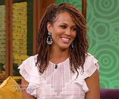 Nicole Ari Parker on | The Wendy Williams Show - With Kinky Twists = Gorgeous!