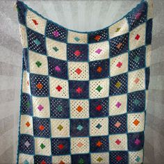 Checkerboard #Crochet Baby Blanket