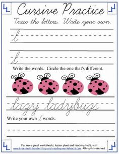 Learn the entire cursive alphabet (upper and lowercase) with these free online cursive handwriting sheets and practice pages.