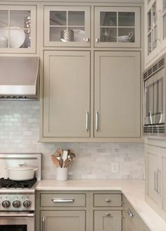 You'll end up in your personal kitchen on a daily basis, so you've to choose tiles and per day style . Read Classy Grey And Beige Kitchen Taupe Kitchen, Kitchen Cabinet Design, Beige Kitchen, Painted Kitchen Cabinets Colors, Kitchen Cabinets Decor, Farmhouse Kitchen Cabinets, Cream Colored Kitchen Cabinets, Kitchen Cabinet Colors, Kitchen Renovation