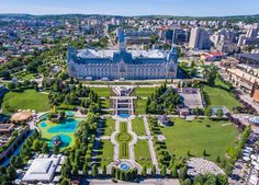 Photo about Iasi, Romania city centre and public garden as seen from above. Image of centre, seen, palace - 96807448 Romania Map, Romania Travel, Beautiful Places In The World, Most Beautiful Cities, Tour Eiffel, Places To Travel, Places To Visit, Wanderlust, Belle Villa