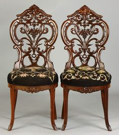 Edwardian (1901-1910) Inventive Solid Wood Edwardian Carved Set 5 Chairs Leather For Restoration For Sale