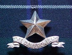 The 1st Bn The Cameronians (Scottish Rifles) silver plated Piper's glengarry badge. This superb Piper's glengarry badge was one of a very small number issued to the Pipers prior to the disbandment parade at Castle Dangerous on the 14th May 1968.