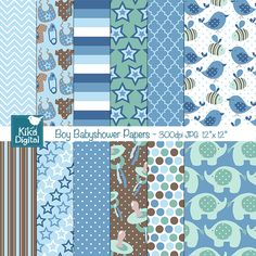 Boy Baby Shower Papers