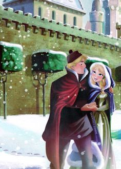 ❅Arendelle Christmas❅: Kristoff always makes extra sure Anna is warm!