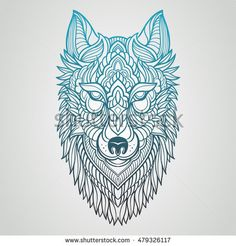 Find Abstract Wolf Hand Draw stock images in HD and millions of other royalty-free stock photos, illustrations and vectors in the Shutterstock collection. Geometric Wolf Tattoo, Tribal Wolf Tattoo, Tribal Sleeve Tattoos, Wolf Tattoos, Animal Tattoos, Celtic Tattoos, Artwork Lobo, Wolf Artwork, Japan Tattoo Design