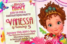 fancy nancy invitation birthday party 2nd Birthday Invitations, Fancy Nancy, A Day To Remember, For Your Party, Party Printables, Cake Toppers, Rsvp, Party Supplies, My Design