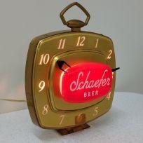 Vintage Original Schaefer Beer Light Up Clock