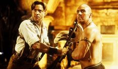 "The photo ""Brendan Fraser as Rick O'Connell and Arnold Vosloo as Imhotep in Universal's The Mummy Returns - has been viewed times. Rachel Weisz, Mummy Movie, Movie Tv, The Mummy 1, Movies To Watch, Good Movies, Amazing Movies, Britisches Museum, Brendan Fraser The Mummy"