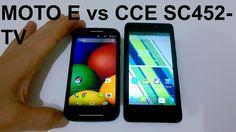 Moto E vs CCE SC452TV - Qual Você Escolhe? [Comparativo]