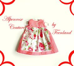 "Bavaria Dirndl ""Rosalie"" Couture Dirndl von krabbelkee collection by Feenland auf DaWanda.com"
