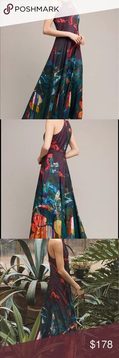NWT Moulinette Soeurs Cadence Maxi Dress Anthro 14 Moulinette Soeurs - Cadence Maxi Dress - 14 - NWT Anthropologie Dresses Maxi