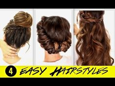 3 Totally Easy Back-to-School Hairstyles | Cute Hair Tutorial