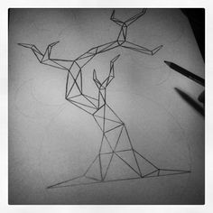 geometric tree drawing - Google Search