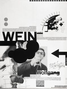New Wave Typography: Swiss Punk: Wolfgang Weingart poster Graphic Design Layouts, Graphic Design Posters, Graphic Design Typography, Graphic Design Illustration, Layout Design, Graphisches Design, Swiss Design, Wave Design, Print Design