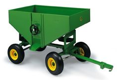 1:16 John Deere Gravity Wagon by ERTL. Save 14 Off!. $28.50. From the Manufacturer                Bring the harvest in from the field with this 1/16 gravity wagon. Raise the side door to let the grain fall out of the box. Lower the door to hold the grain in the box. The wagon box and frame are made of steel mounted on a die cast wagon frame. The tongue will pivot and attaches to most 1/16 tractors. The wagon rides on soft plastic tires.                                    Product ...