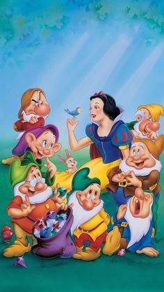 Snow White and the Seven Dwarfs Phone Wallpaper - djecija zabava - Disney Disney Princess Fashion, Disney Princess Snow White, Snow White Disney, Disney Princess Pictures, Disney Princess Art, Disney Art, Disney Family Movies, Disney Cartoon Characters, Disney Cartoons