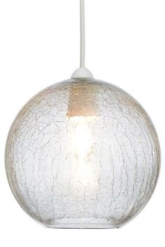 Buy Smoke Crackle Easy Fit Glass Pendant from the Next UK online shop