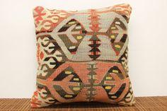 Vintage kilim pillow cover 16 x 16 Ethnic Kilim by kilimwarehouse, $61.00