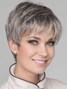 Short Grey Hair, Short Hair With Layers, Short Hair Cuts For Women, Short Hairstyles For Women, Straight Hairstyles, Curly Short, Short Pixie Haircuts, Pixie Hairstyles, Girl Haircuts