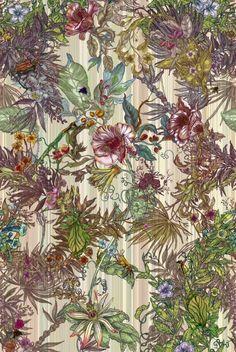 Timorous Beasties Wallcoverings - Opera Botanica consider certain shapes.