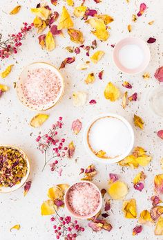How To Make Rose, How To Make Diy, Diy Rose Petal Bath Salts, Coming Up Roses, Flat Lay Photography, Product Photography, Valentines Day Decorations, Beauty Recipe, Rose Petals