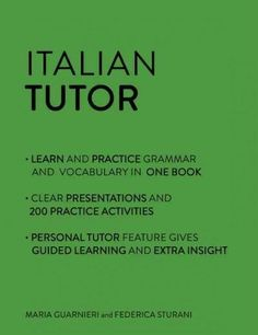 By studying and practicing Italian grammar you'll understand how the language really works and be able to speak Italian with clarity and ease. This Italian workbook offers a range of clear and effecti